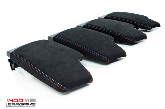 [(51162405919) F8X M3/M4] M Performance Carbon Fiber & Alcantara Armrest f80m3 f8M4 f82m4 bmw 5x120 m3 m4 m5 m2 1m modbargains
