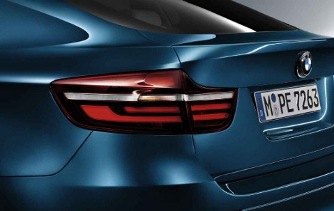 BMW X6 E71 Blackline Tail Lights Rear Driver View