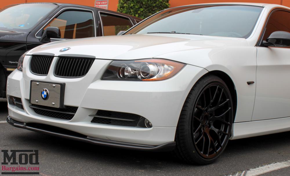 Carbon Fiber Front Lip for 2006-10 BMW 3-Series Coupe/Sedan [E90/E92] (Pre-LCI) HM-Style