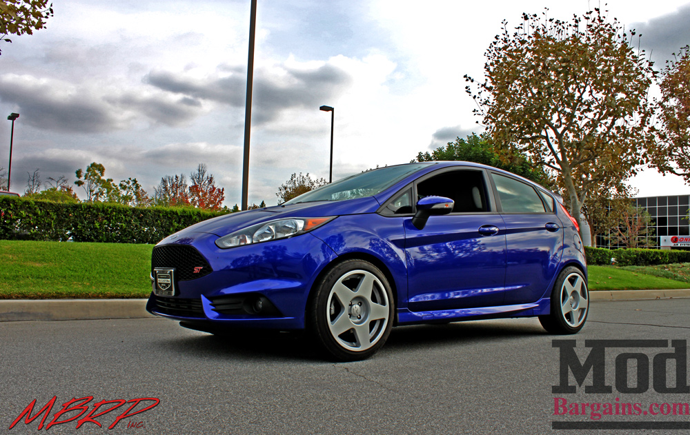 Front Ford Fiesta ST with Rally White