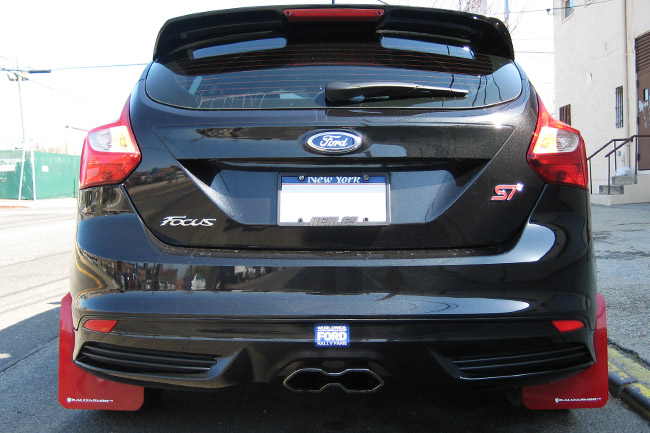 Ford Focus Red Mud Flaps
