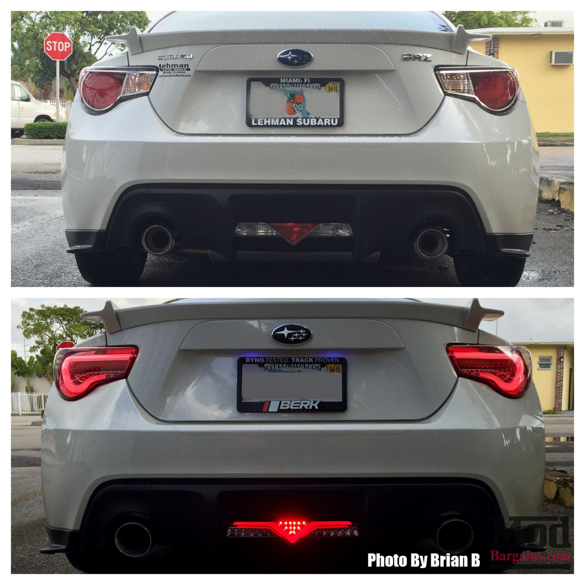 Valenti LED Tail Lights for Scion FR-S Subaru BRZ ZN6 ZC6 Installed