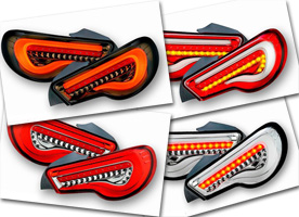 Valenti LED Tail Lights Scion FR-S Subaru BRZ Collage