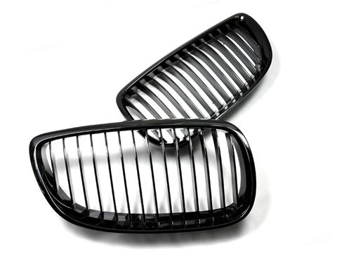Gloss Black Kidney Grilles For BMW 3 Series 2007-2010 Pre-LCI Coupe