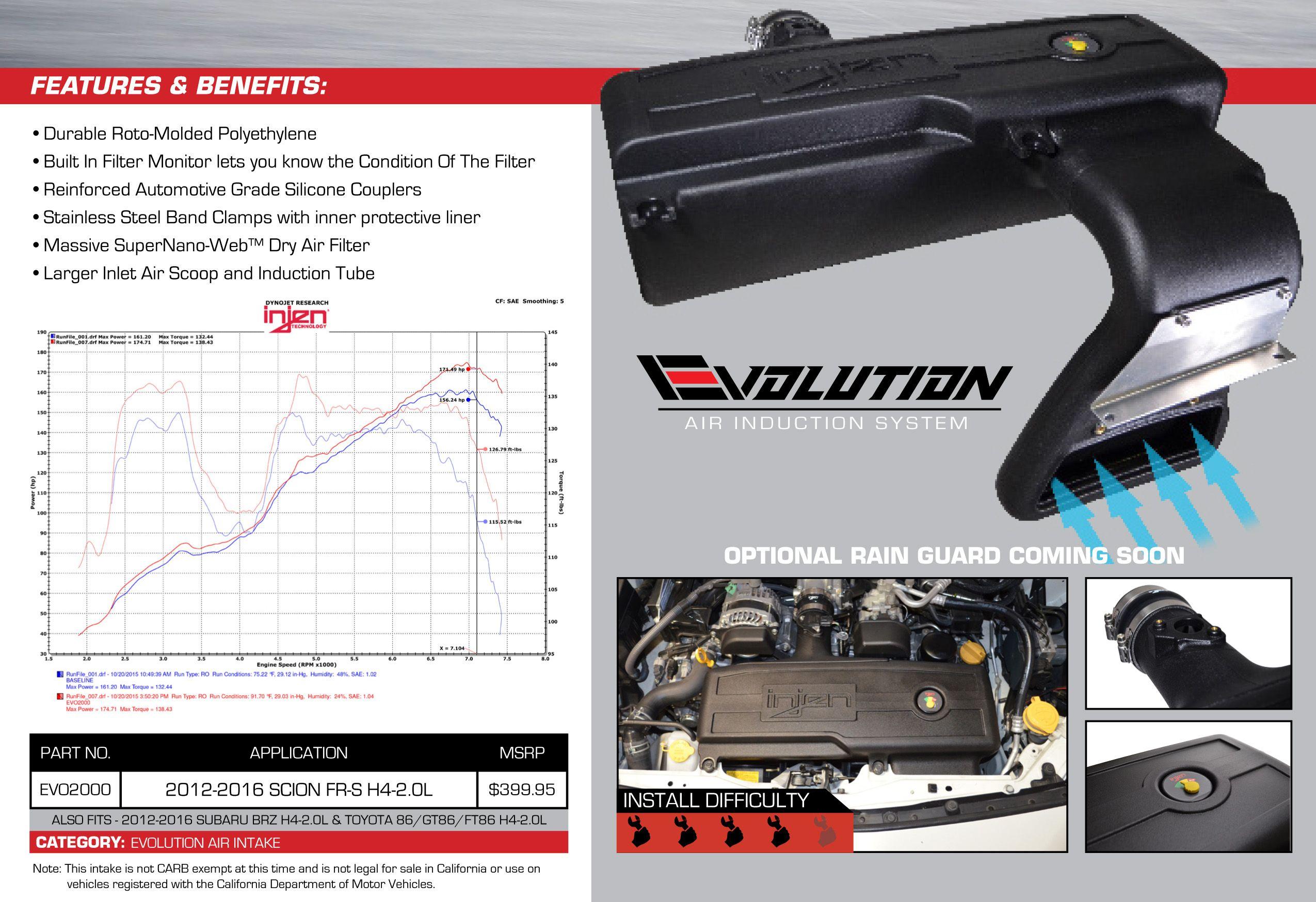 Injen EVO2000 Scion Evolution Air Induction System
