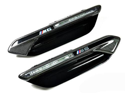 Carbon Fiber Fender Light Trim Cover for BMW M6