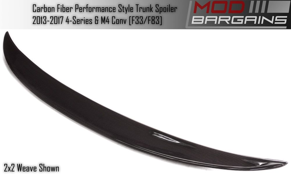 Carbon Fiber Performance Style Trunk Spoiler for BMW F33/F83 BMTS3301