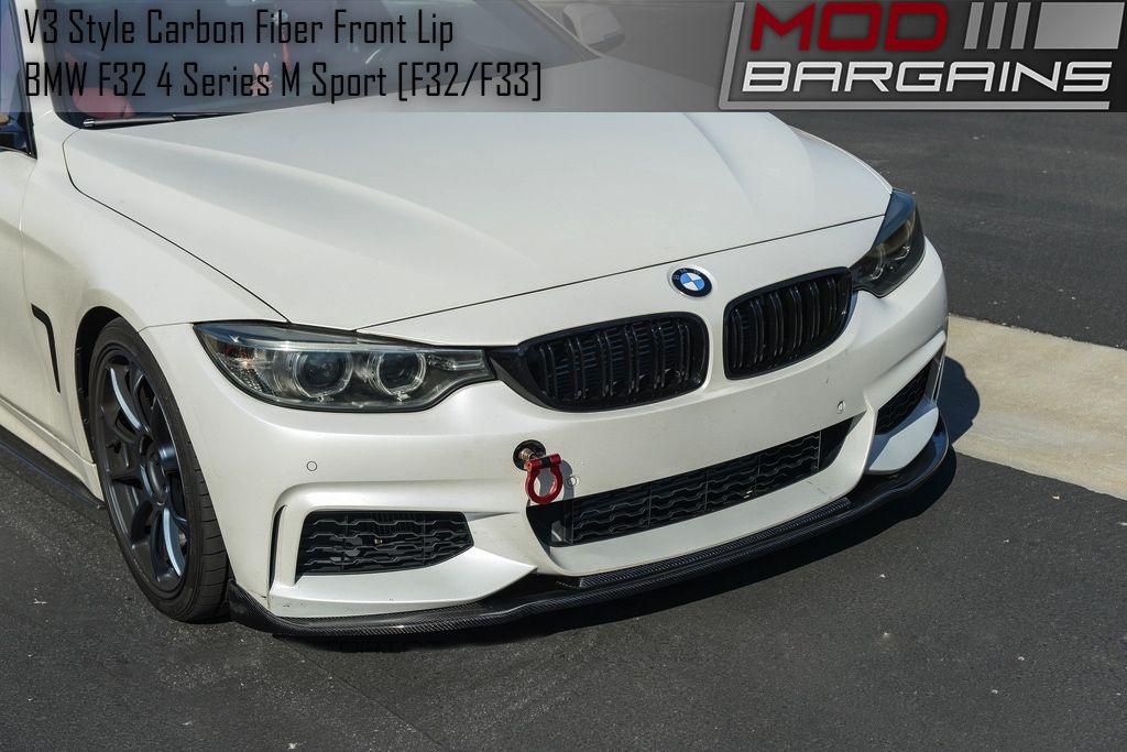 Carbon Fiber V3 Front Lip Installed BMFS3325