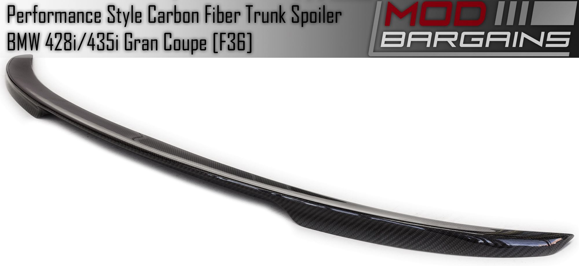 Carbon Fiber Performance Style Trunk Spoiler for BMW F36 BMFTS3601