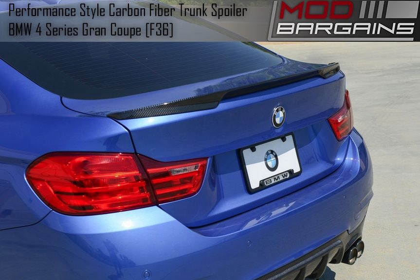 Carbon Fiber Performance Style Trunk Spoiler Installed BMTS3601
