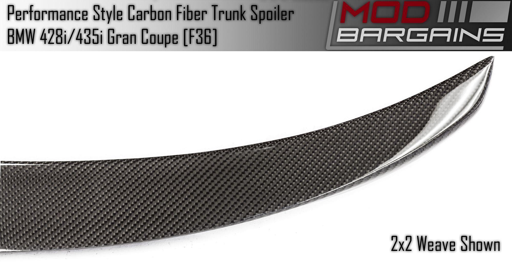 Carbon Fiber Performance Style Trunk Spoiler BMTS3601