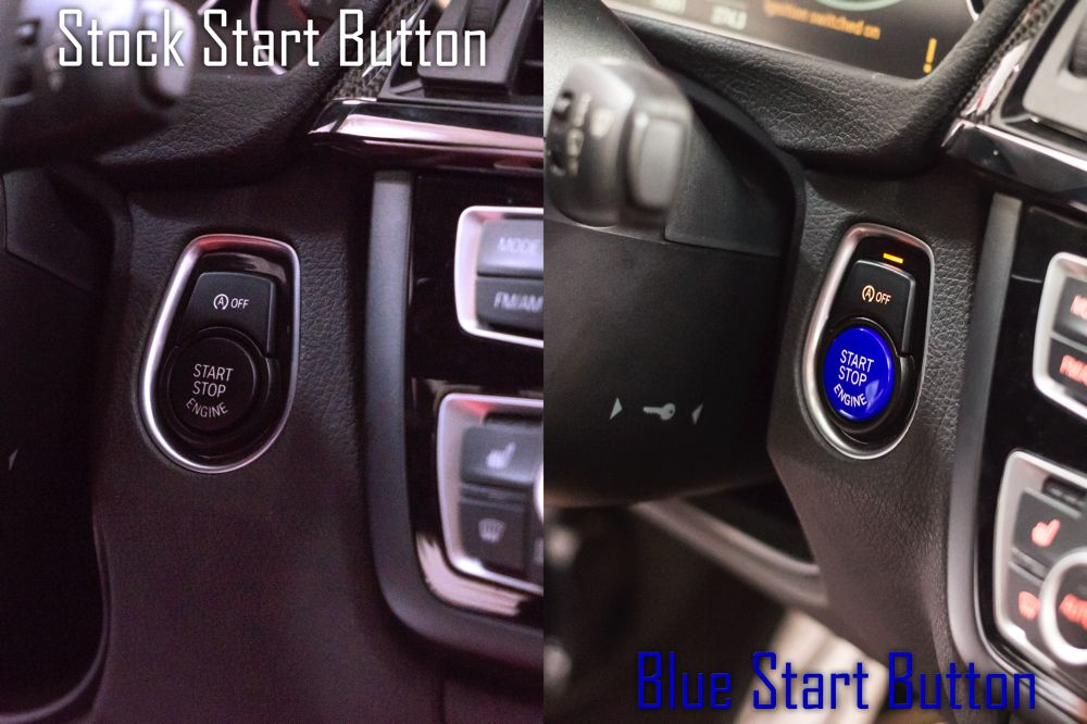 BMW Auto Start Stop Blue Button for F Chassis vehicles. F01, F10, F12, F22, F30, F32, F80, F82, F87