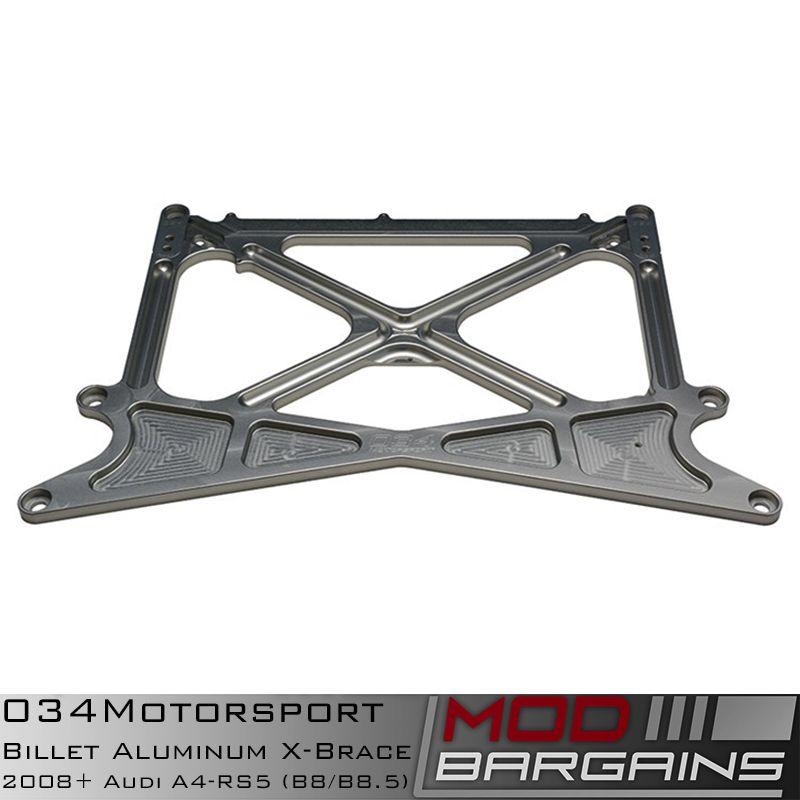 034Motorsport Billet Aluminum X-Brace for Audi B8/B8.5 Vehicles