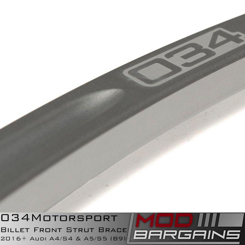 034Motorsport Billet Front Strut Tower Brace for Audi B9 Vehicles 034-603-0012