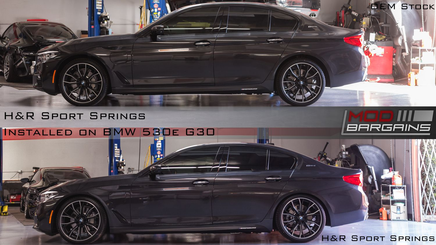 2017+ BMW 530i 540i M550i xDrive AWD H&R Sport Lowering Springs Installed