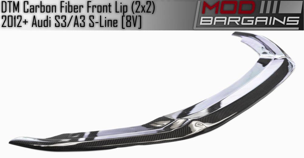 Carbon Fiber DTM Style Front Lip Audi S3/A3 S-Line 8V AUFD8V01