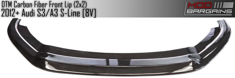 Top View of DTM style Carbon Fiber Front Lip AUFS8V01