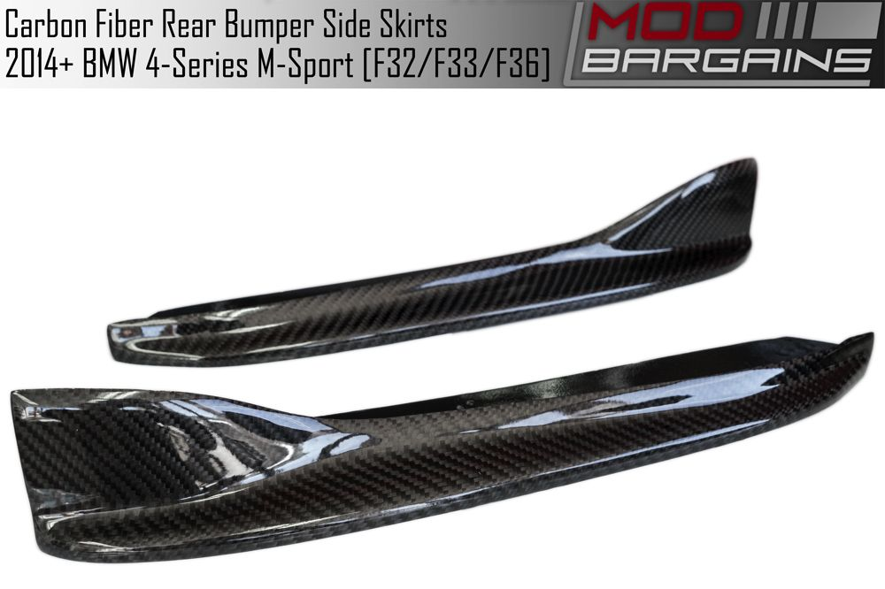 Carbon Fiber Rear Bumper Side Skirts BMSS3221