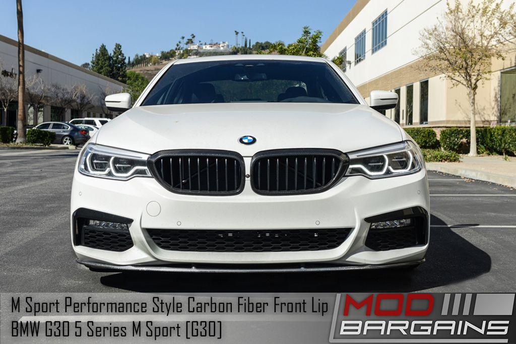 Carbon Fiber Front Splitter Installed on 2017+ BMW 5 Series [G30] BMFSG3021