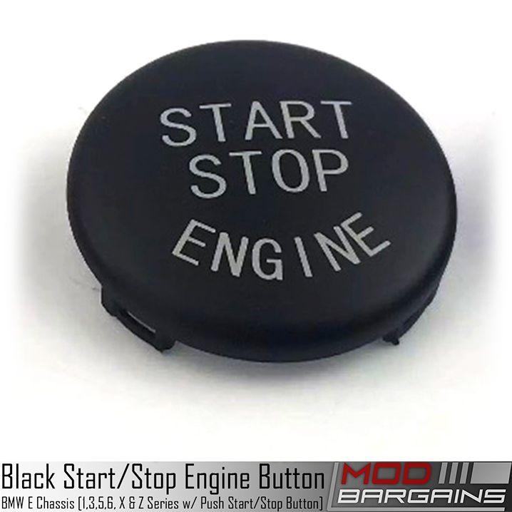 BMW Start Stop Black Button for E Chassis vehicles. E82 E90 E91 E92 E93 E60 E63