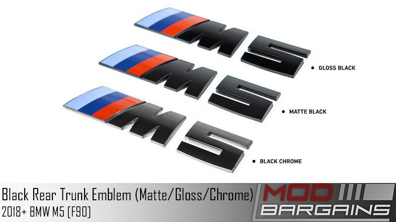 Black Rear Trunk Emblems for BMW F90 M5