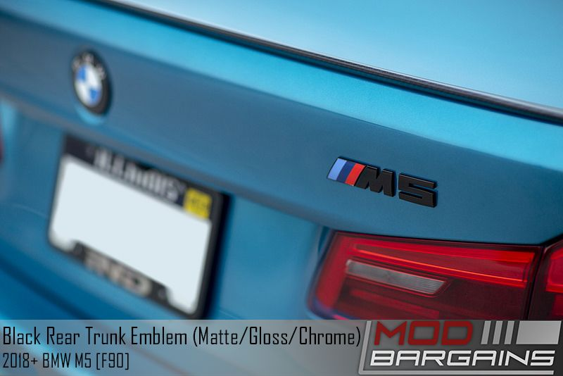 Black Rear Trunk Emblem for BMW M5 Installed [F90]