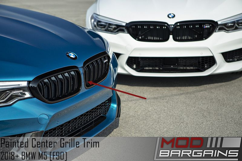 Color Matched Front Kidney Trim Installed on BMW F90 M5