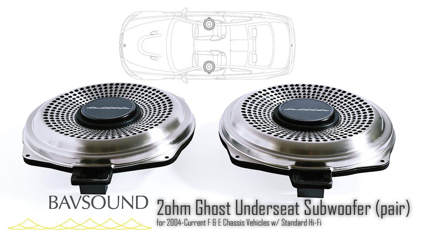 BAV Sound Ghost Underseat Subwoofer Pair BSD.GUSW.20