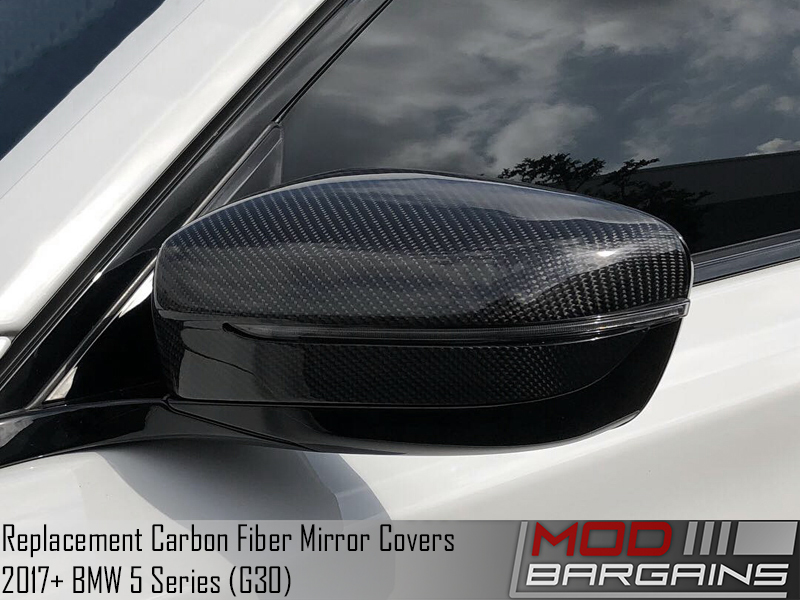 Carbon Fiber Replacement Mirror Covers for 2018+ BMW 5-Series