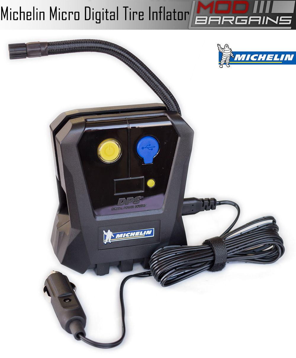 Michelin Micro 12 Volt Digital Tire Inflator with USB 5V Power Port 12264