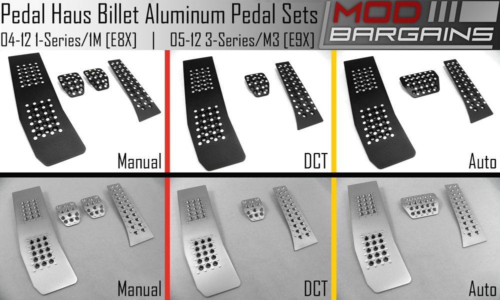 1 series E82 Billet pedals, Pedal Haus, E9X, E9X M3