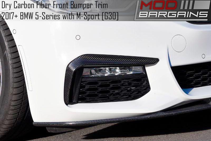 Carbon Fiber Front Bumper Trim for 2017+ BMW 5-Series [G30] ATK-BM-0089