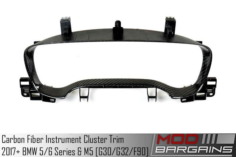 Carbon Fiber Instrument Cluster Trim for 2017+ BMW 5/6-Series & M5 [G30/F90] ATK-BM-0270