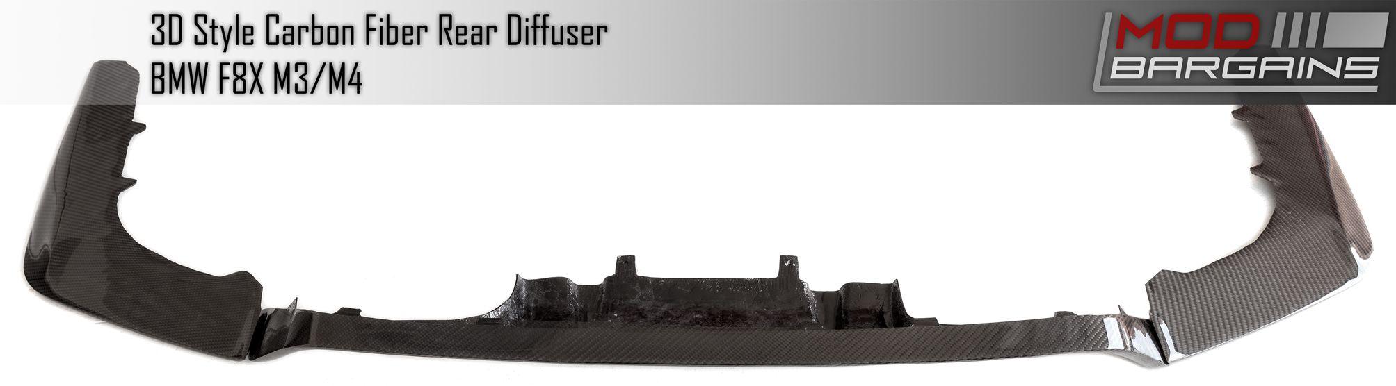 Carbon Fiber 3D Rear Diffuser for BMW BMDI8X05