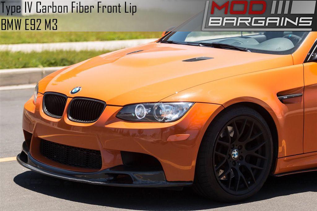 Type Iv Carbon Fiber Front Lip For E9x Bmw M3 E90 E92 E93 Bmfs9270