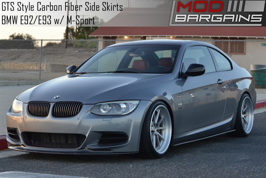 GTS Style Carbon Fiber Side Skirts for E92/E93 BMW 3 Series BMSS9211
