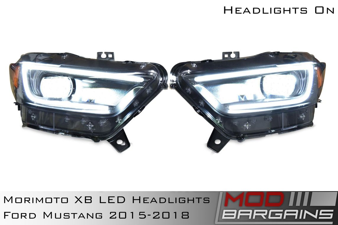 Morimoto XB LED Headlight Assemblies for 2015-2017 Ford Mustang