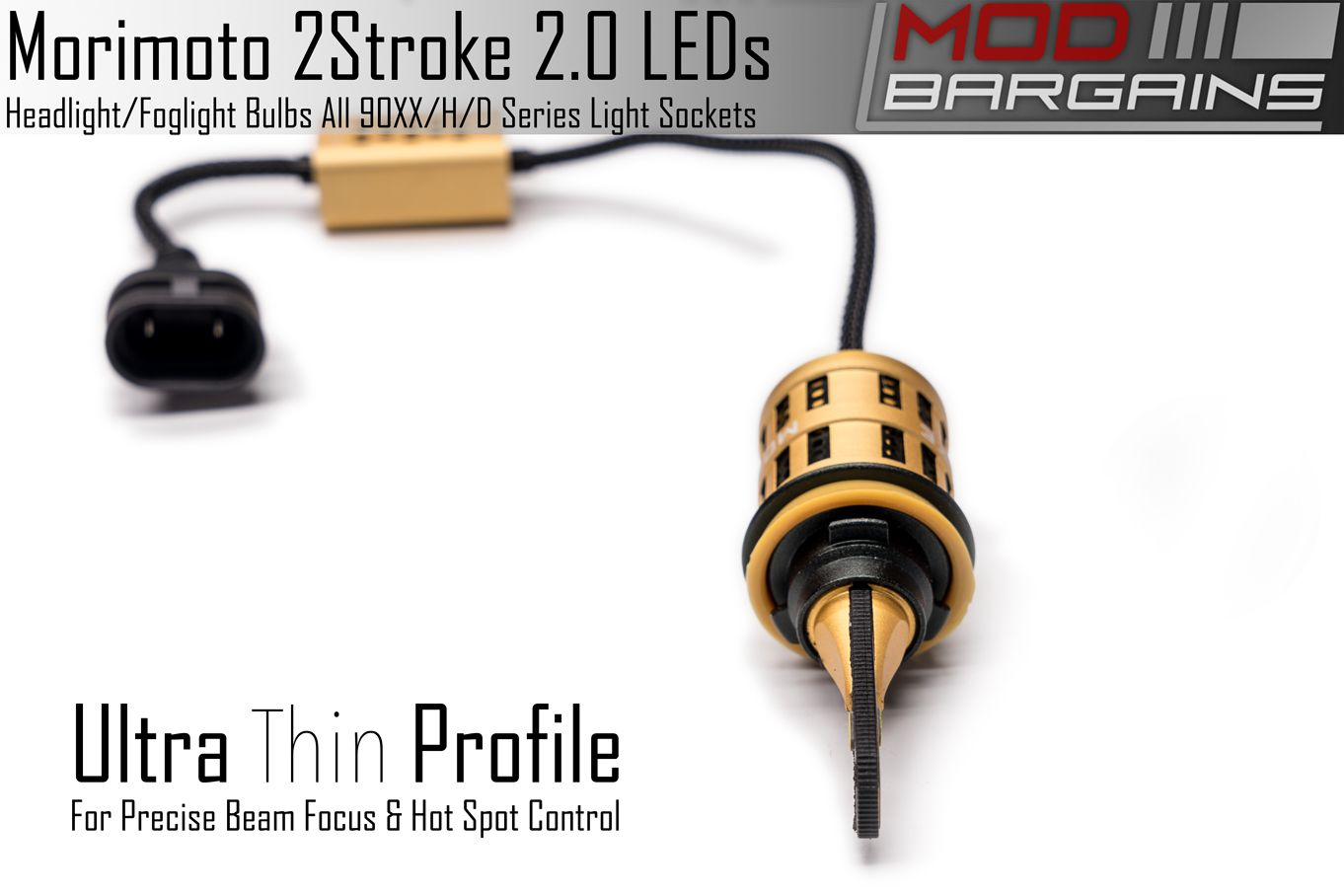 Morimoto 2Stroke 2.0 LEDs for all H, D and 90XX Headlight and Foglight applications