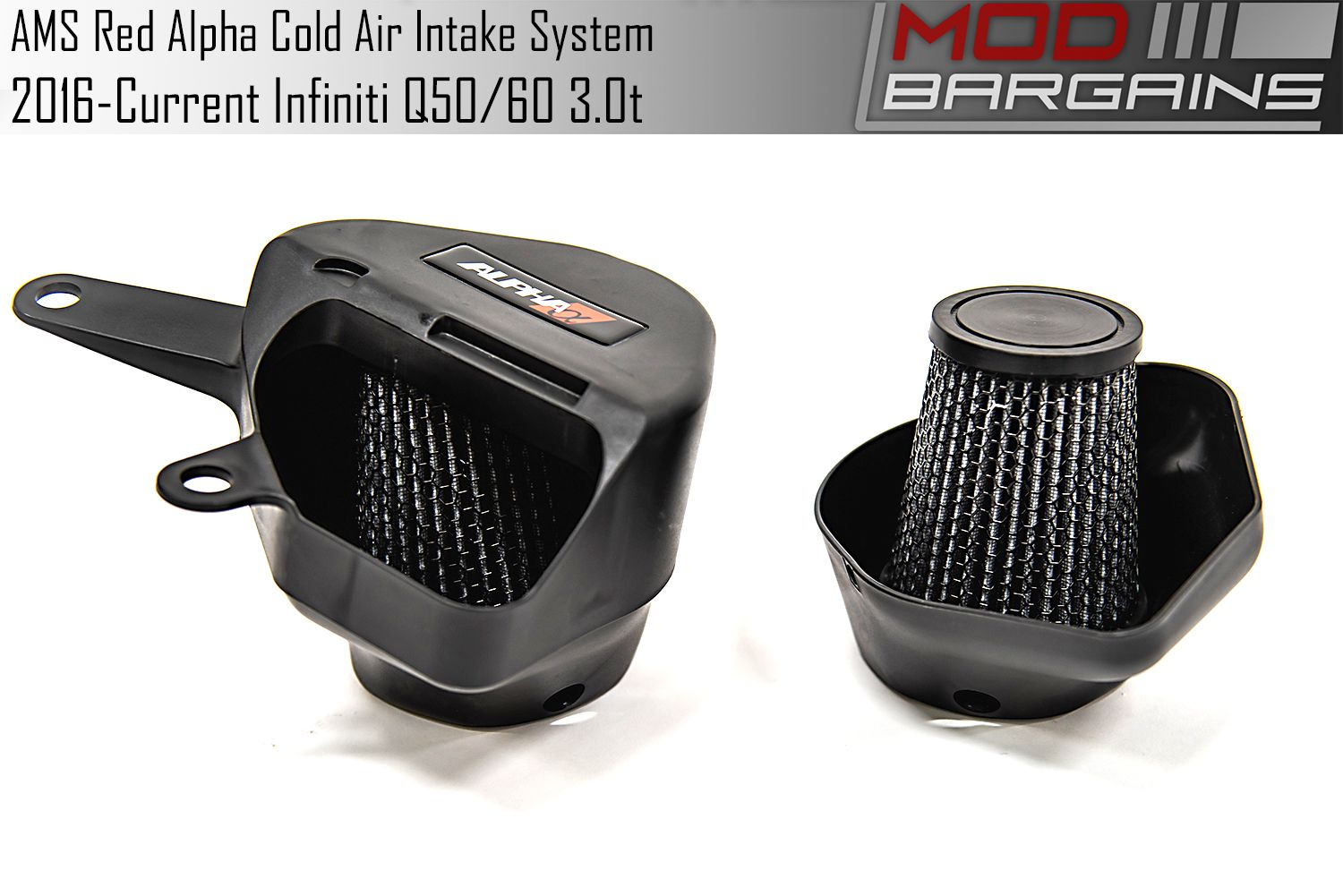 AMS Red Alpha Cold Air Intake for 2016+ Infiniti Q50/Q60 3.0t
