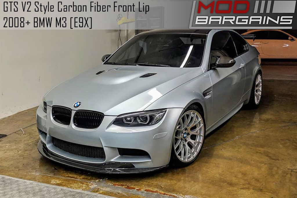 GTS V2 Style Carbon Fiber Front Lip for 2008+ BMW M3 [E9X] BMFS9267