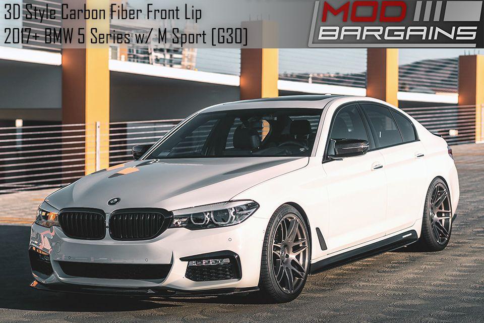 3D Style Carbon Fiber Front Lip for 2017+ BMW G30 5 Series M Sport BMFSG3028
