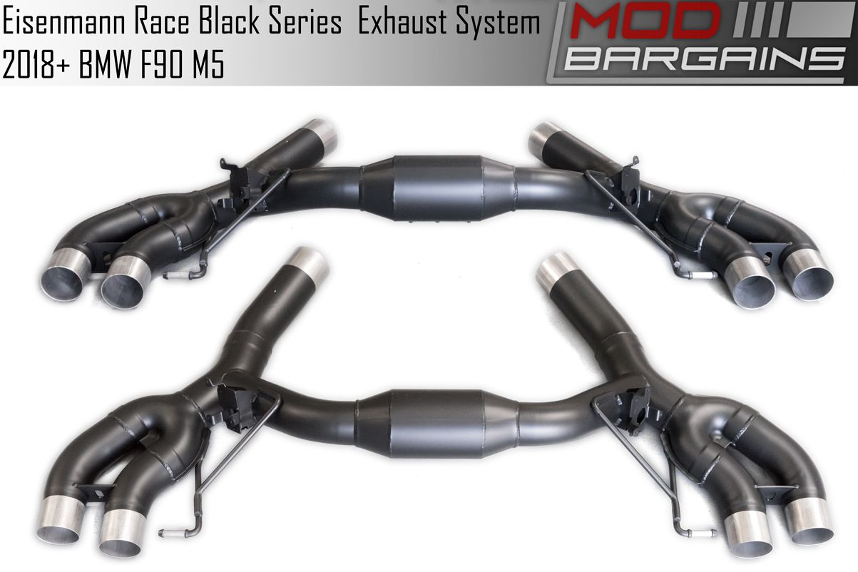 B5555.00904.BC F90 M5 Eisenmann Black Series Race Performance Exhaust & Mid Pipes