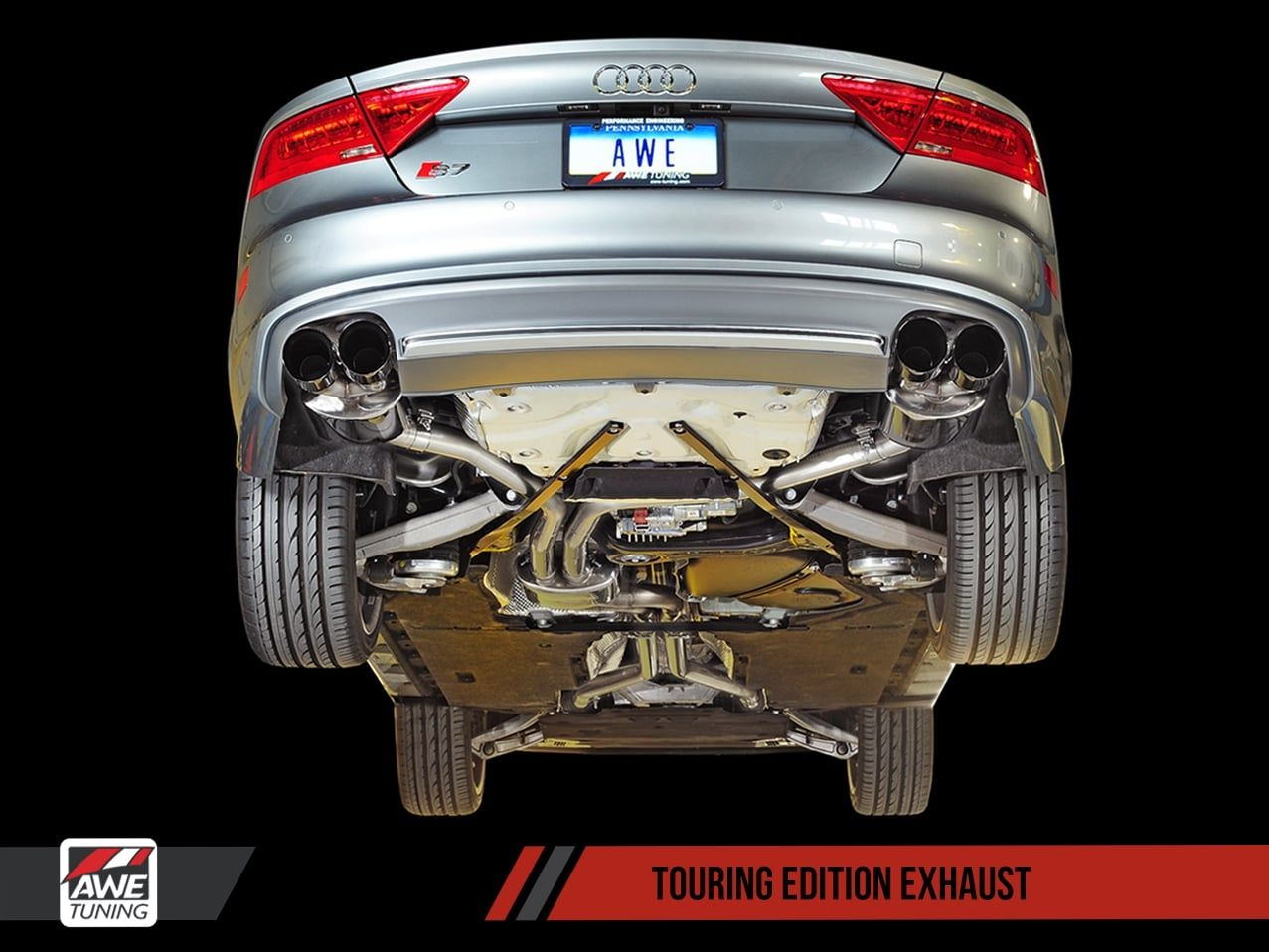 audi S7 exhaust awe tuning touring exhaust