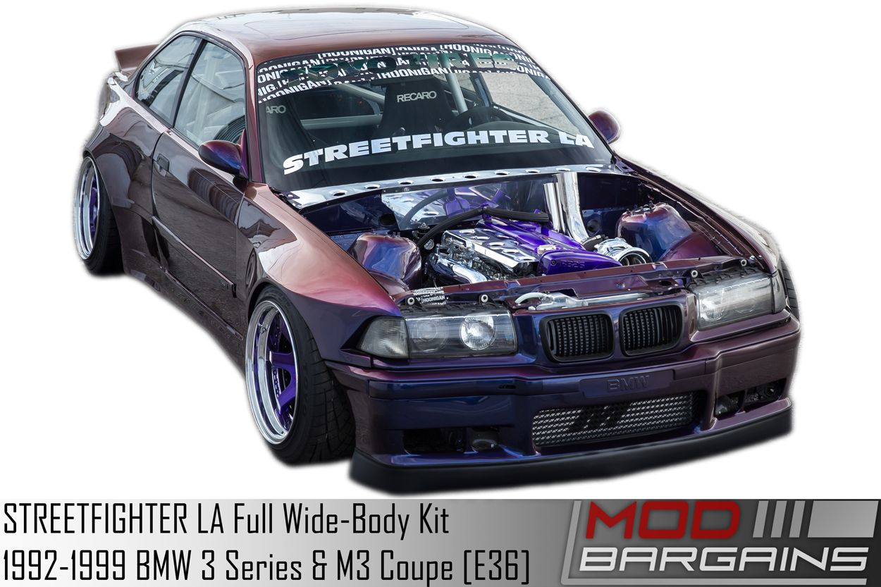 Streetfighter La Base Full Wide Body Kit For 1992 1999 Bmw 3 Series M3 Coupe E36