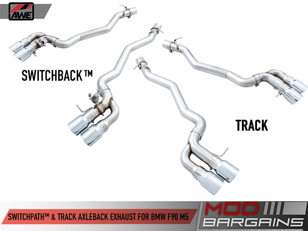 AWE SwitchPath & Track Axle Back Exhausts for 2018+ BMW M5 [F90]