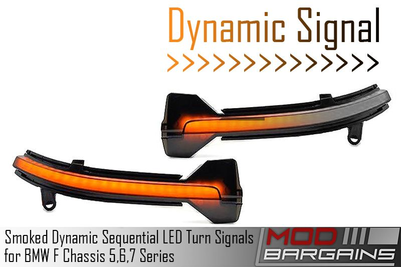 Smoked Dynamic Sequential LED Turn Signals (ATK-BM-0263)
