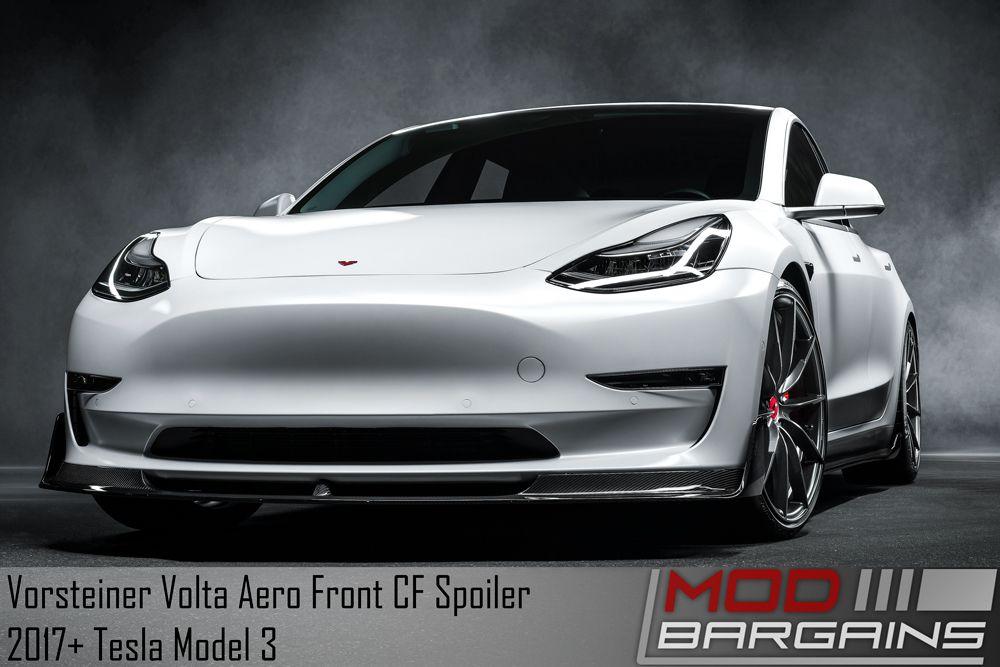 Vorsteiner Tesla Model 3 Volta Aero Front Spoiler (Carbon Fiber 2x2)