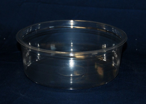 """38 oz Deli Cup (6.75"""") with Lid - Pre Punched"""