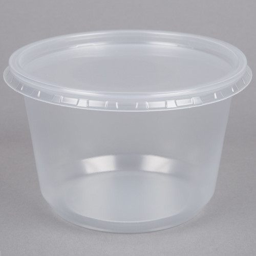 """16 oz Deli Cup (4.25"""") with Lid"""