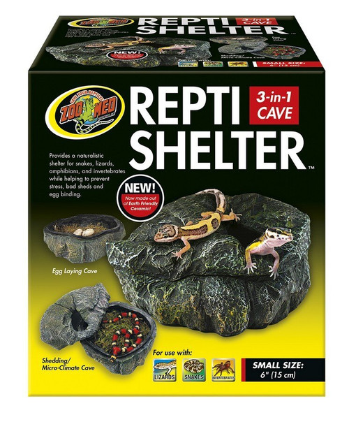 Repti Shelter 3 in 1 Cave Small